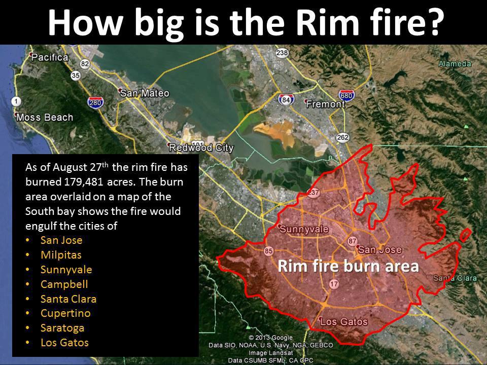 9/11 Terrorist Attack Bill of Rights: New Rim Fire Perimeter Map