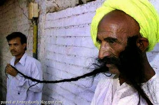 World's Longest Moustache – Badamsingh Juwansingh Gurjar, India