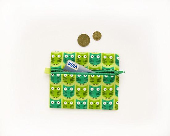 green coin purse, кошелек для монет
