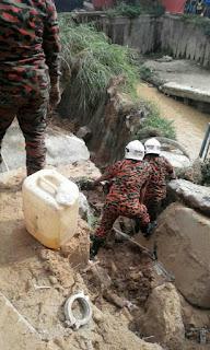 Operasi Menyelamat Kejadian Tanah Runtuh di Taman Segambut Dalam