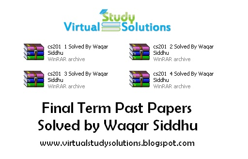 Cs302 final term solved papers