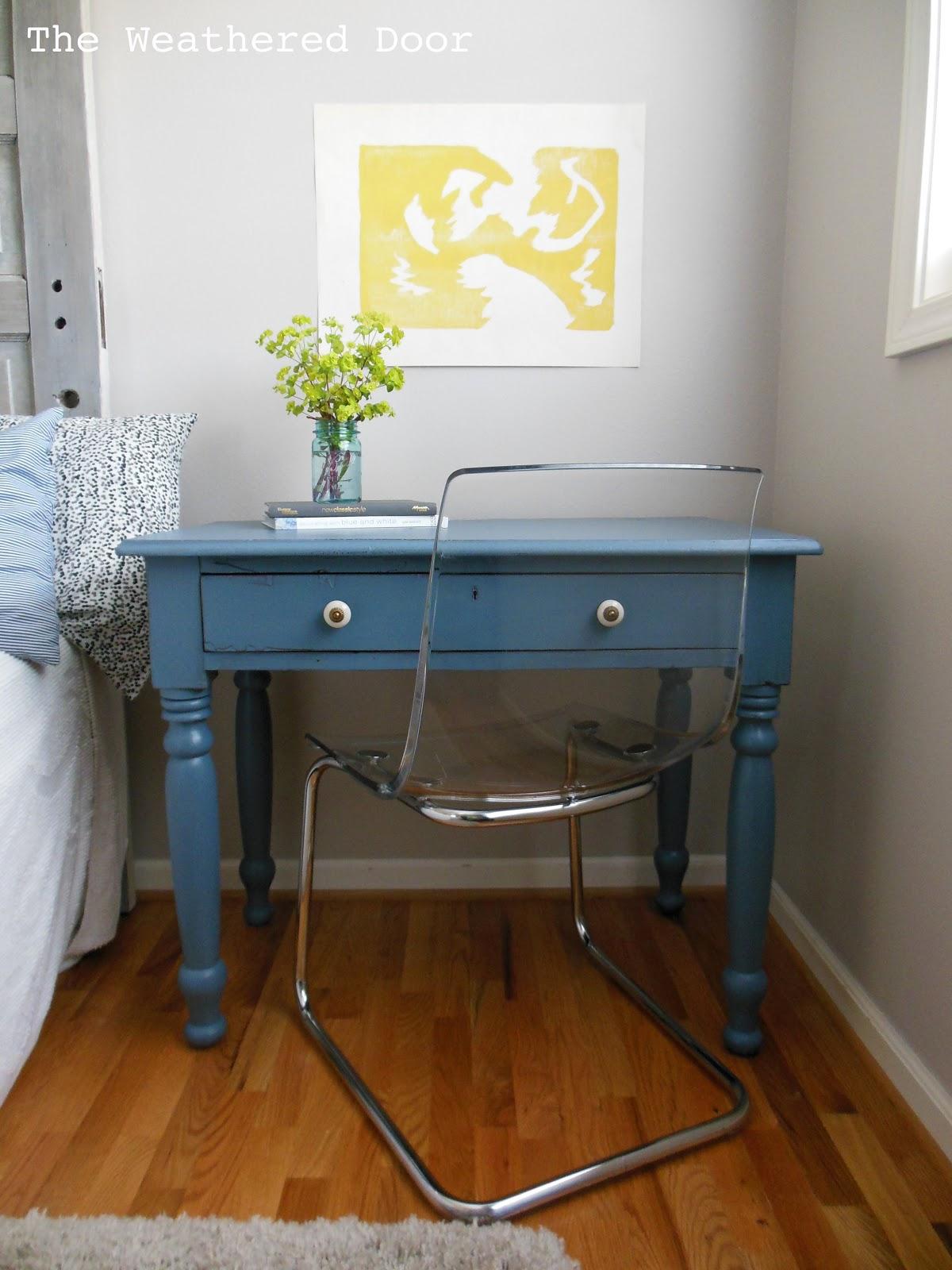 blue furniture desk trim kings finds one market with pin lane white vintage