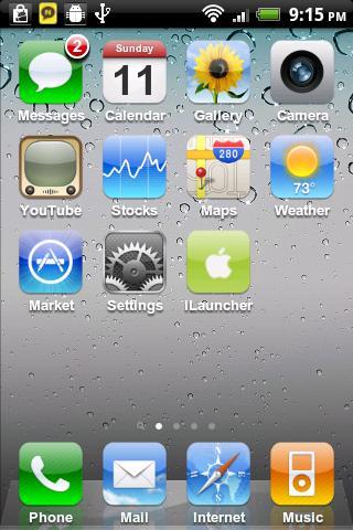 overview iphone style home screen launcher this is an iphone ...