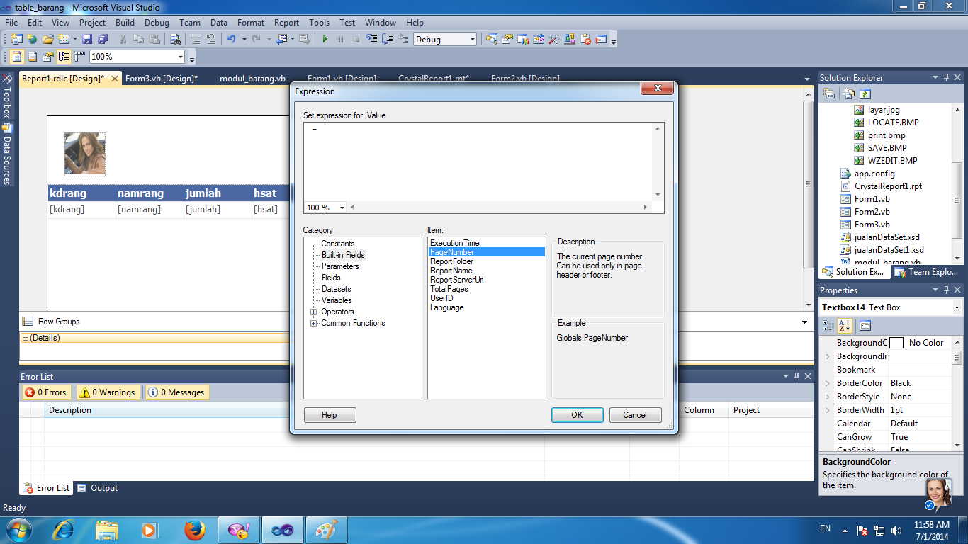 how to set report definition in a reportviewer