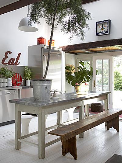 Dosxdos ideas para decorar zonas de comedor con bancos - Bancos para mesa de comedor ...