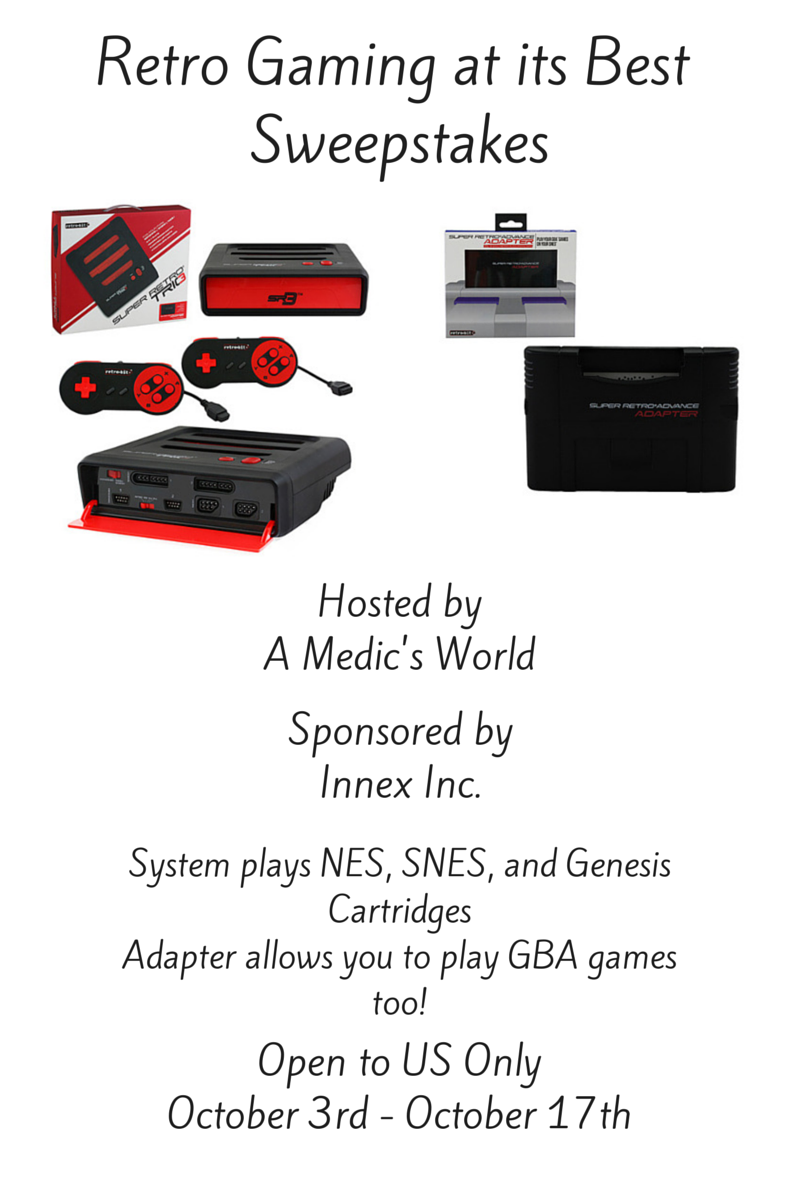 Enter the Retro Gaming at its Best Giveaway. Ends 10/17.