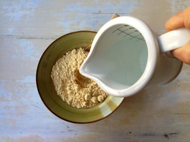 receta talo añadir agua a harina maiz