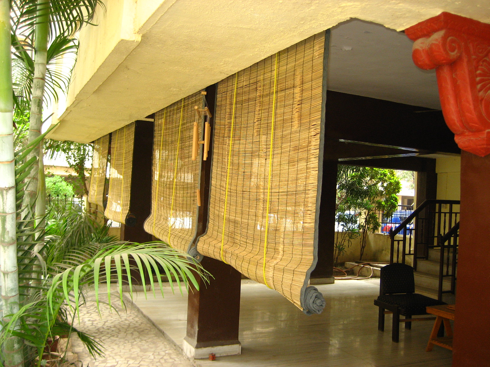 Bamboo Curtains For Doors Orange Curtains for Outdoors