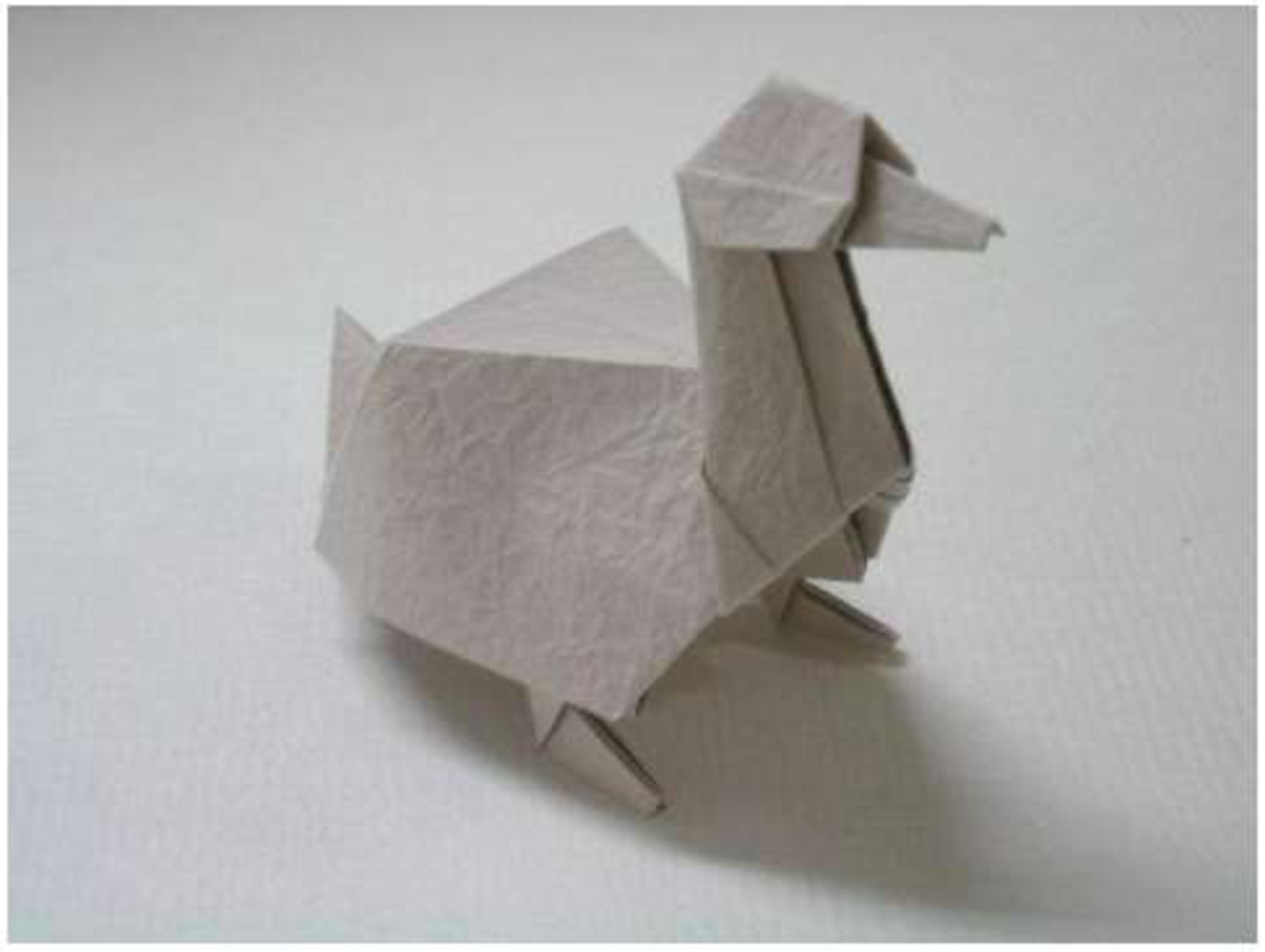 origami duck folding instructions easy paper craft for kids