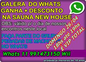 CONVIDE OS AMIGOS! DOMINGO 26/04 ENCONTRO DO PEGADAS NA SAUNA  E TEM ENTRADA VIP