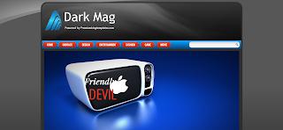 Dark Mag Blogger Template is a rasponsive Clean Blogger Template