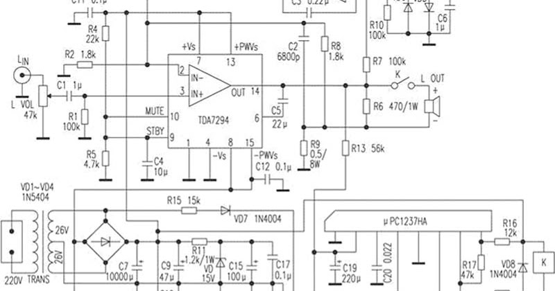 audio amplifier with high clarity circuit diagram