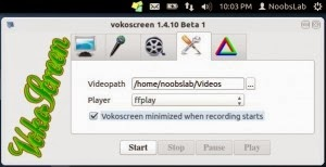 Record the Desktop with Vokoscreen