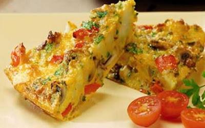Resep Membuat Omelet Telur Keju Sayuran dan Kornet
