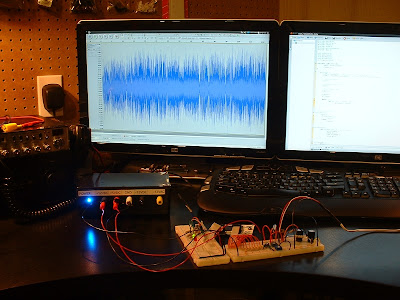 The complete setup, with some fancy waveforms. :]