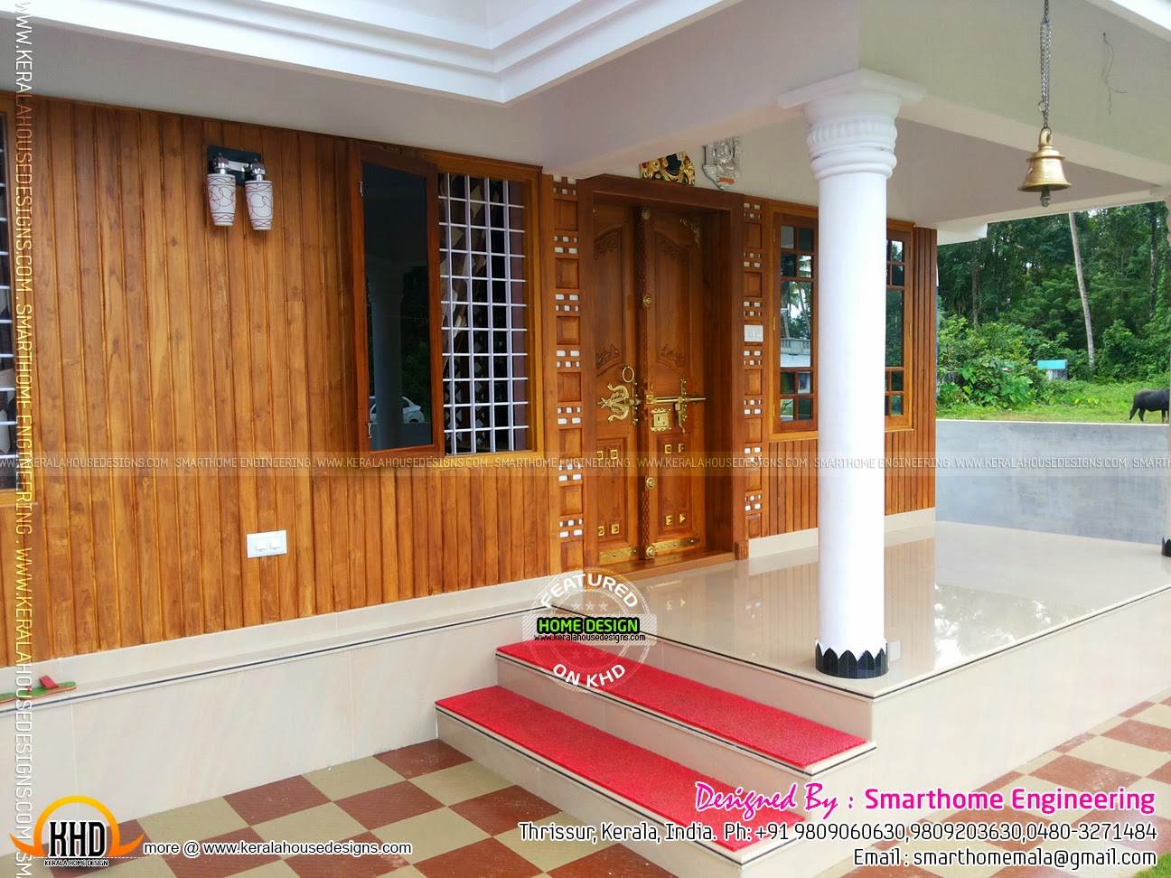 furnished house with photos   kerala home design and floor
