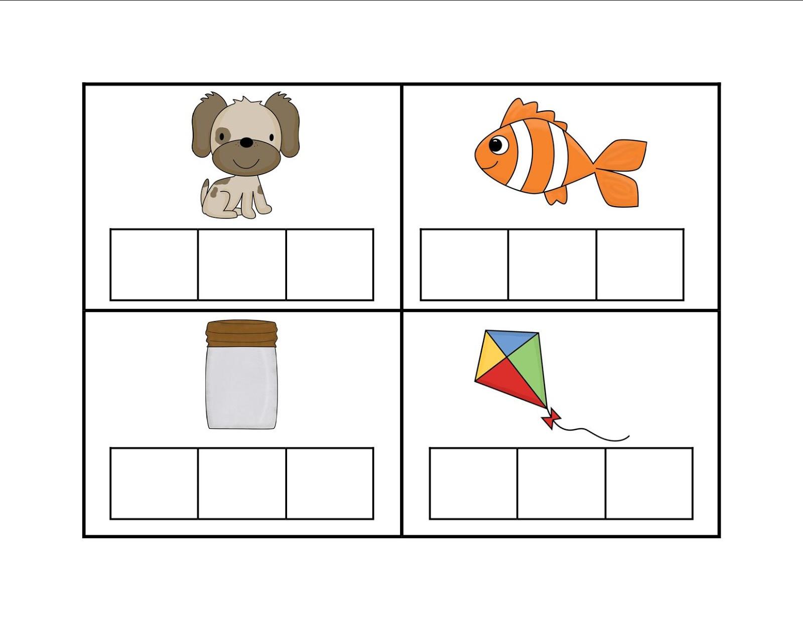 Free Worksheets segmenting worksheets : blending words worksheets for kindergarten k--k.club 2017