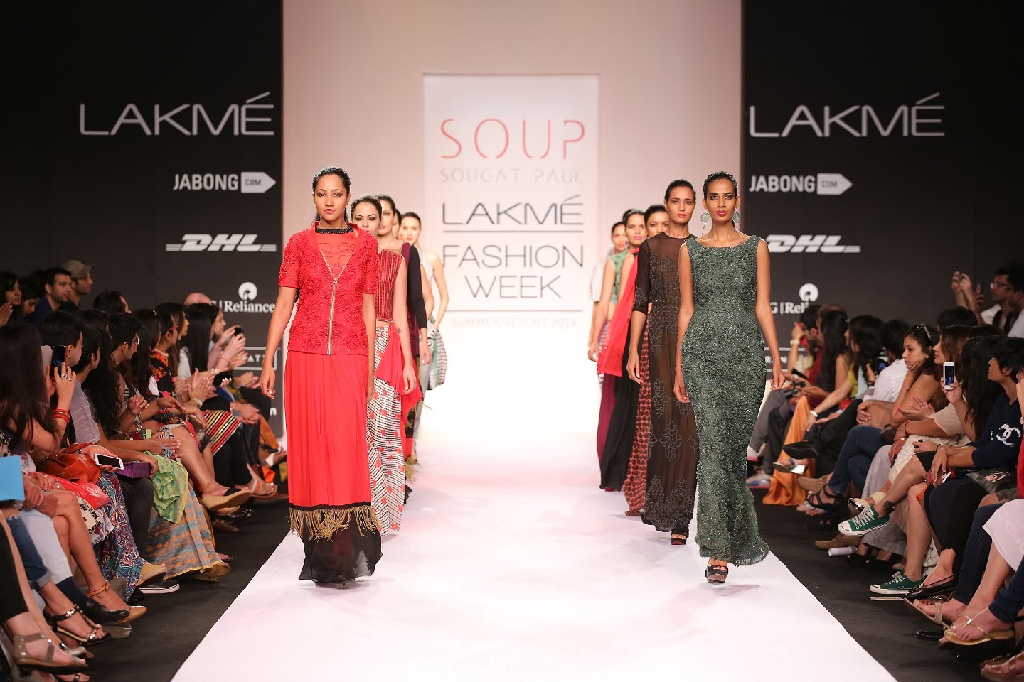 the final line-up for soup by saugat paul Summer/resort 14 at LFW Mumbai at Grand Hyatt