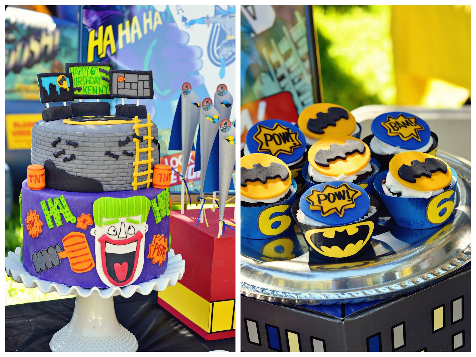 Bowden Party 365 Holy Birthday Cake Batman