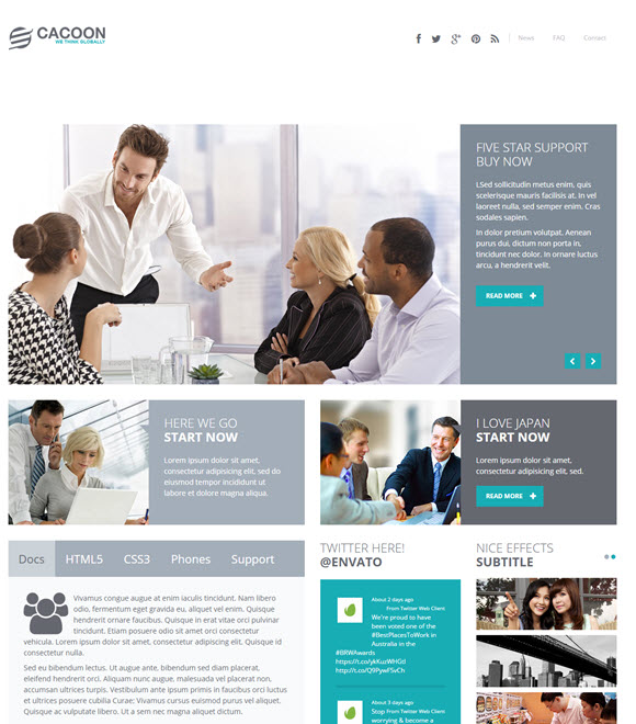 Cacoon :: Responsive Business Joomla Template