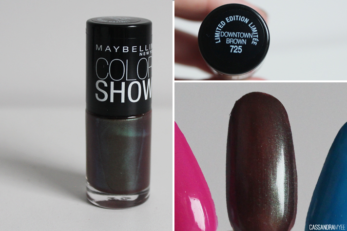 MAYBELLINE // Color Show Nail Polishes - Downtown Brown - cassandramyee