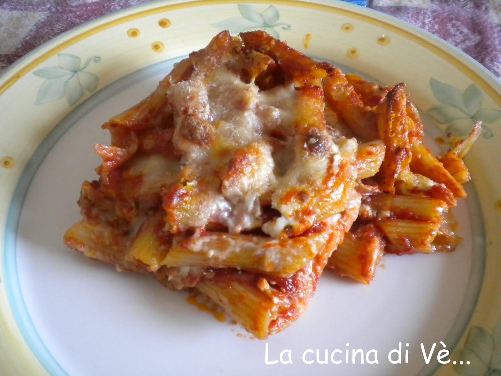 La Cucina Di Vè : Pasta Al Forno Semplice Semplice #B9480D 1600 1200 Programma Per Creare Ricette Di Cucina