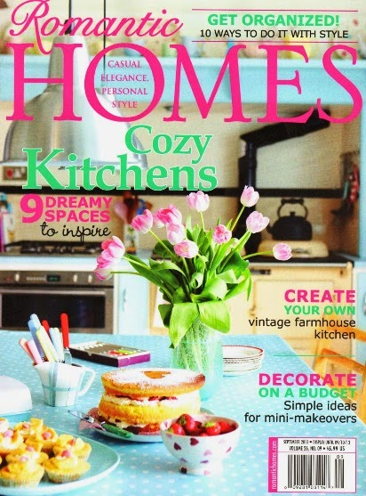 Romantic Homes Magazine Features The Vintage Home Collective Blog!