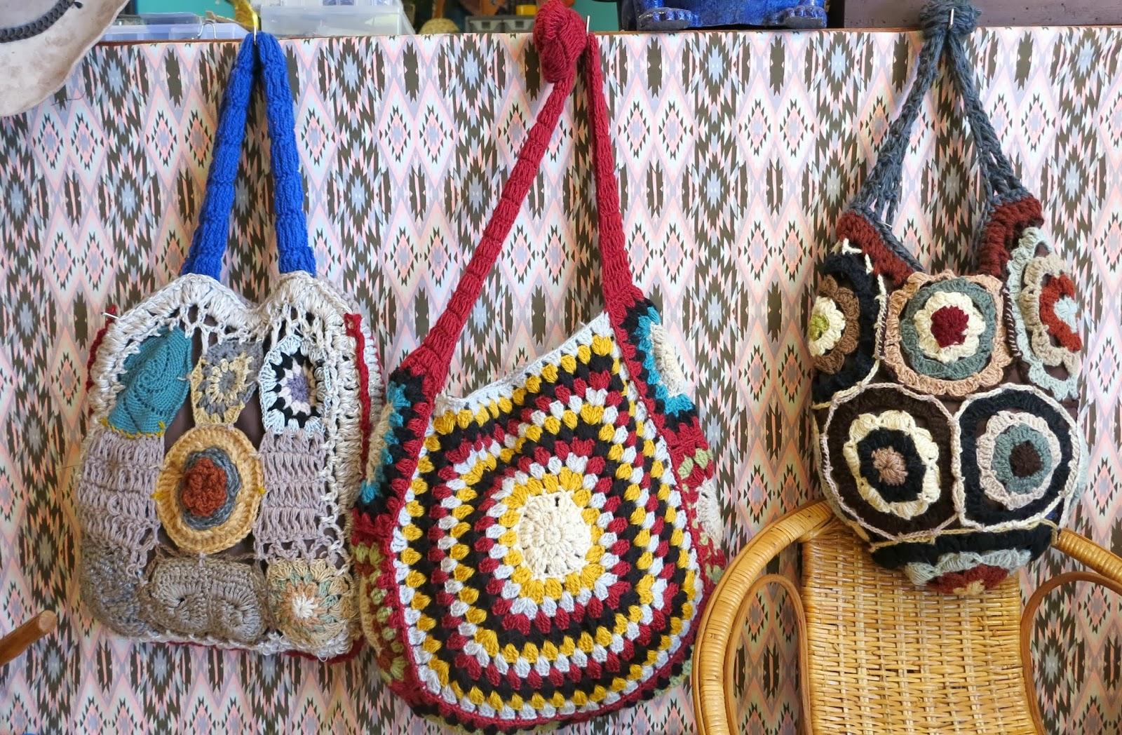 ByHaafner, shop, crochet boho bags, granny squares