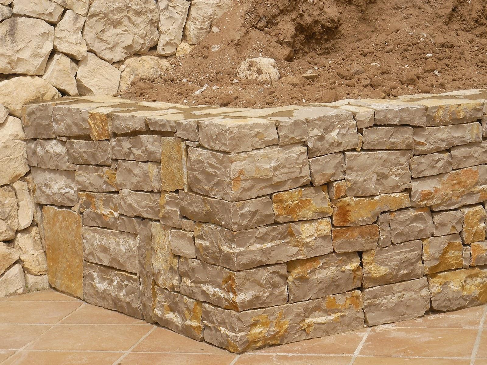 Ideagarden construccion de jardinera de piedra - Piedras para construccion ...