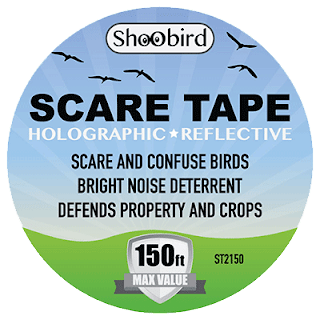ShooBird Bird Repellent Scare Tape #ShooBirdRepeller