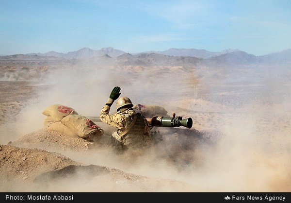 "TEHRAN (FNA)- The Iranian Ground Forces staged massive wargames codenamed 'Mohammad Rasoulallah (PBUH) 3' in the Eastern parts of the country on Tuesday morning. Different infantry, artillery, electronic war, psychological war, drone and air force units of the Ground Force participated in the drills. In the main phase of the exercises, the hypothetical enemy targets were destroyed using heavy artillery fire and massive air and ground attacks. Also, the quick reaction units of the Ground Force carried out operations against the hypothetical enemy targets using the most advanced home-made weapons and equipment. Iranian Ground Force Commander Brigadier General Ahmad Reza Pourdastan underlined in January that the wargames staged by different units of the country's Armed Forces played a deterrent role against enemy threats. By Mohammad Rasoulallah (PBUH) drills staged in the Southern and Southeastern parts of Iran in late December ""we showed to the regional states that the defensive capacities of our country and the region are so high that there is no need for the presence of foreigners"", Pourdastan said at the time. The wargames showed that the Iranian Armed Forces are ready to give a crushing response to anyone who might dream of an attack on the country, he added. Different units of the Iranian Army's Ground Force, Navy, Air Force and Air Defense staged massive joint military drills along the country's Southern and Southeastern coasts late last December. The military exercises codenamed Mohammad Rasoulallah (PBUH) covered an area of 2.2 million square kilometers from the East of the Strait of Hormuz to the Southern parts of the Gulf of Aden. In the last phase of the drills staged in the presence of Iranian President Hassan Rouhani, Defense Minister Brigadier General Hossein Dehqan, Army Commander Major General Ataollah Salehi and Navy Commander Rear Admiral Habibollah Sayyari on December 31, the surface and subsurface vessels of the Iranian Navy displayed their capabilities in military parades. The Iranian Navy vessels also successfully fired the country's home-made Nour and Nasr cruise missiles on the sixth day of the massive Mohammad Rasoulallah (PBUH) drills."