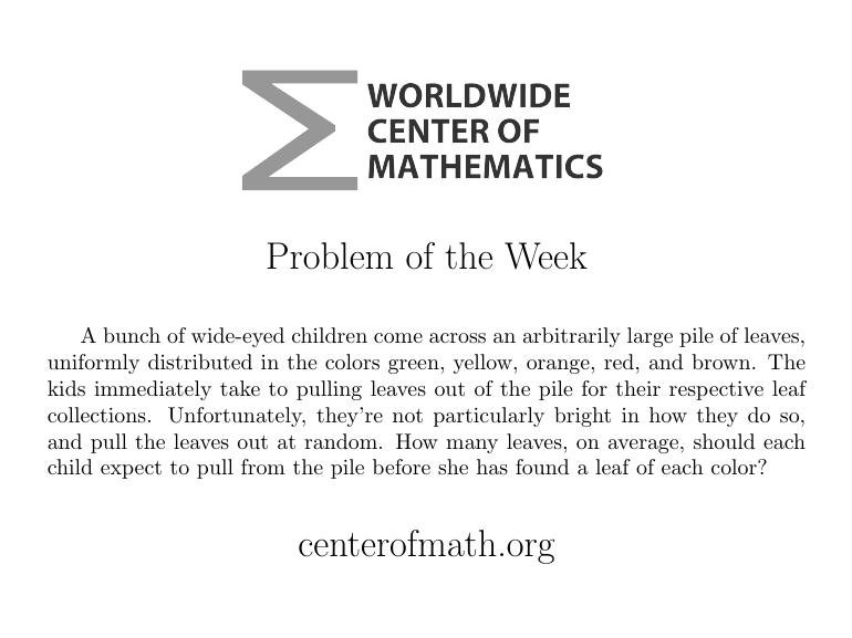 Math Problem of the Week?