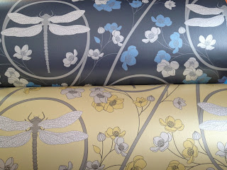 Judit Gueth Yellow and Blue Dragonfly Wallpaper