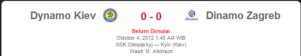 Dynamo Kiev vs Dinamo Zagreb