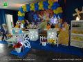 A Bela e a Fera - Decoração de mesa temática para festa de aniversário infantil de meninas.