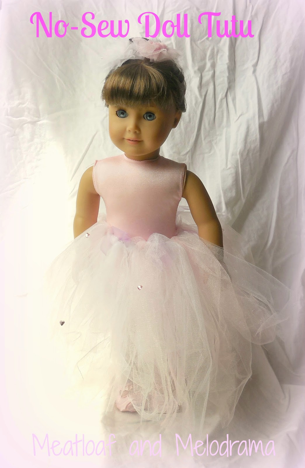 AG doll with pink tutu skirt