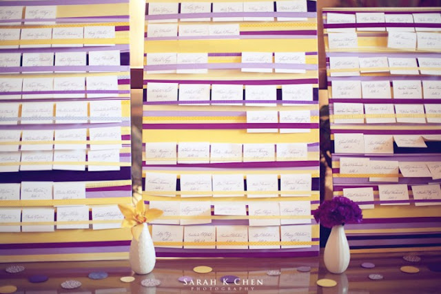 Wedding Ribbons Seating Chart