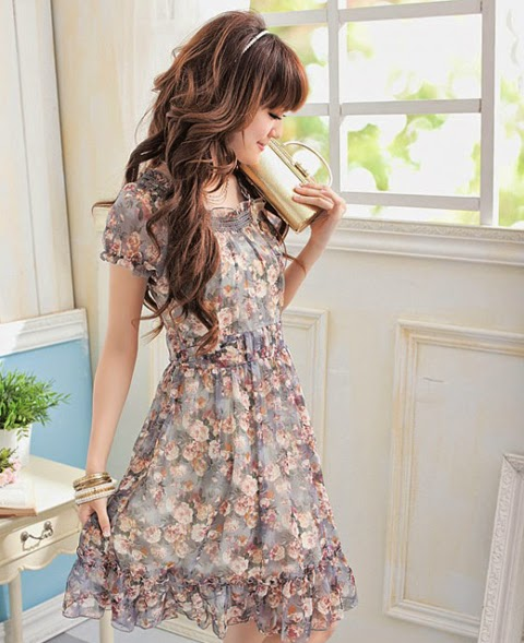 model baju gaun pendek
