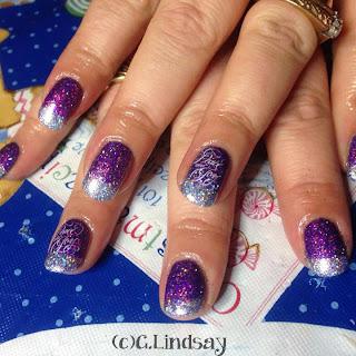 Glitter fade nails