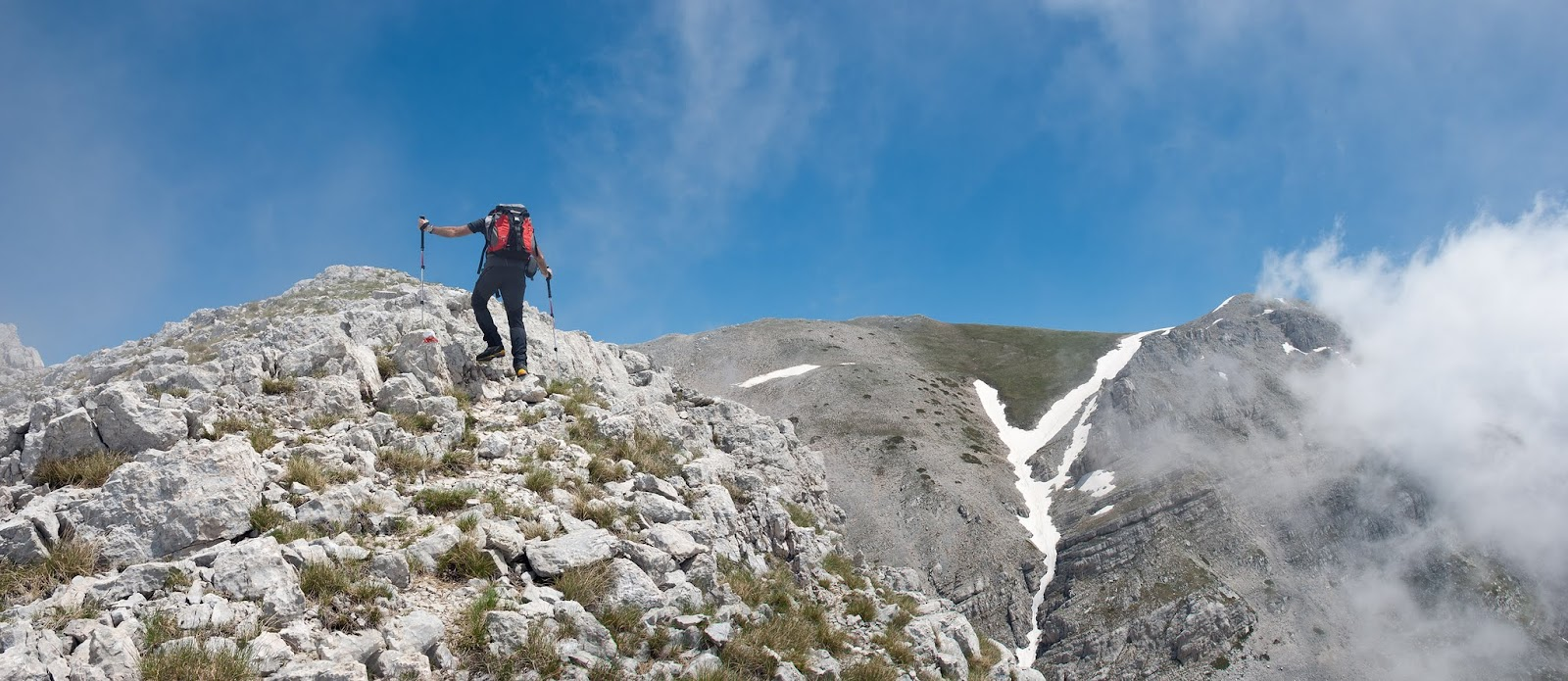 Salendo alla cima del monte Velino