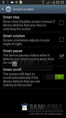 Samsung Smart Screen Settings