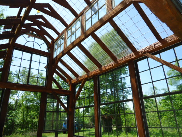 Searcy Timber Frame Structures: Timber Frame Greenhouse 11\'x14\'x16\' high