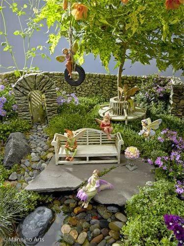 Mini Peças Como Vasinhos, Cercas, Bancos, Mesinhas, Mini Muros, Mini ~ Mini Jardim Acessorios