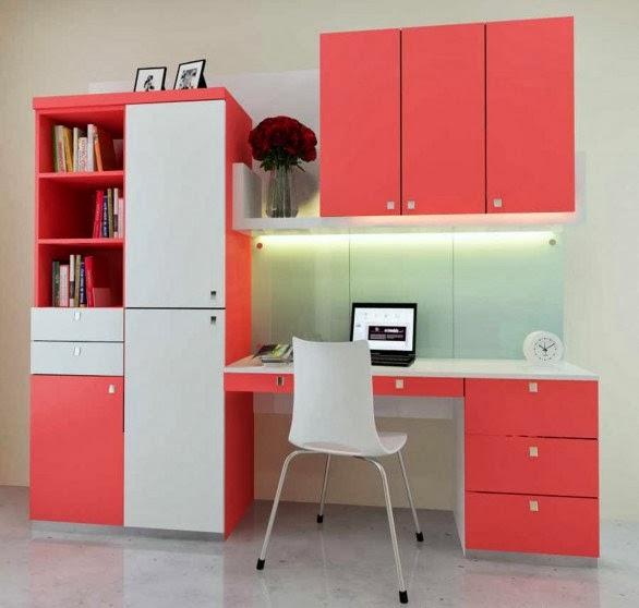 meja belajar minimalis modern