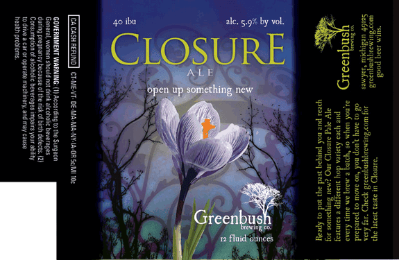 Greenbush Closure label