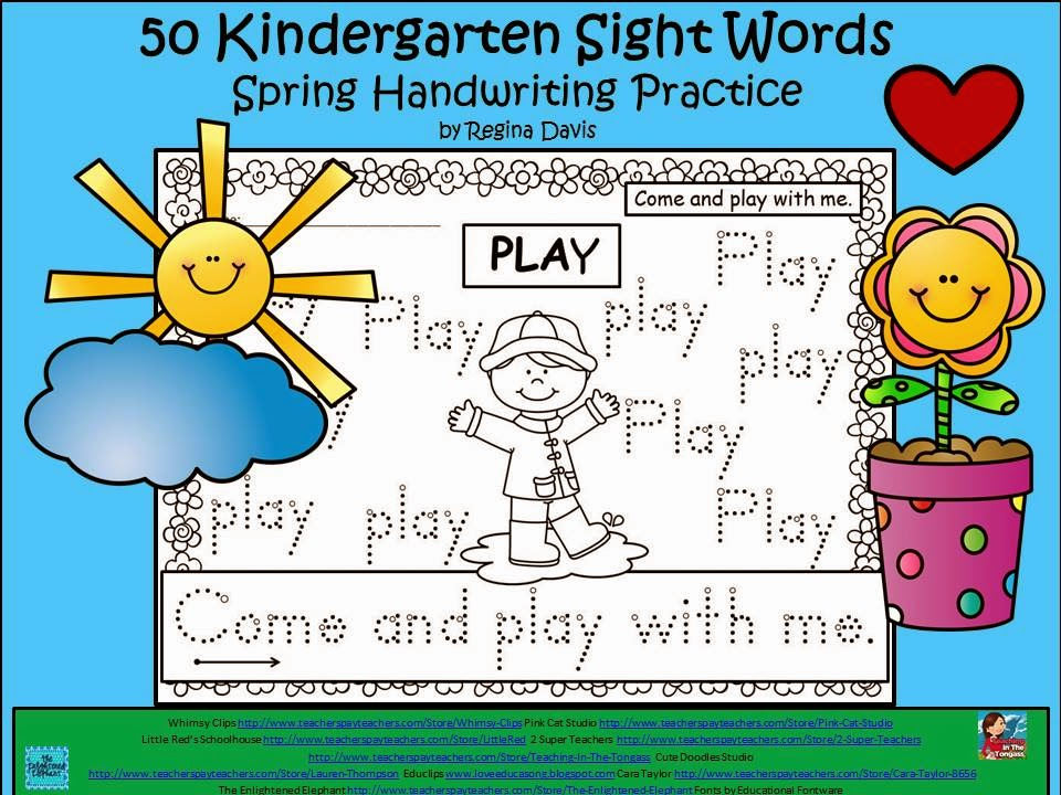 http://www.teacherspayteachers.com/Product/A-50-Kindergarten-Sight-Words-Spring-Handwriting-Practice-1175400