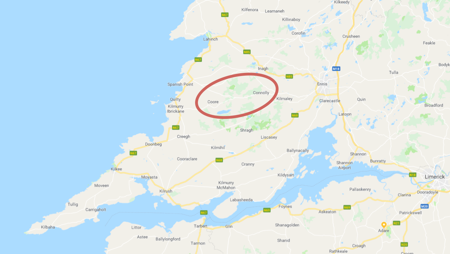 it should be noted here that the region several townlands and connolly around reanagisha furroor aildavour and boolyneaska is often referred to in the
