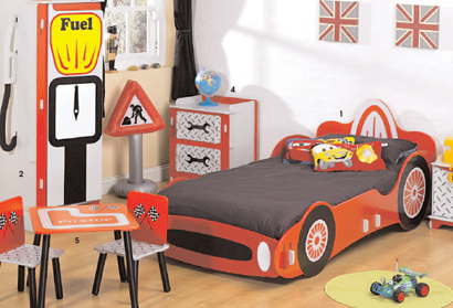 racing car children bedroom furniture