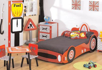 racing car children bedroom furniture