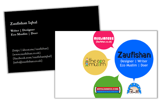 graphic design business cards muslim designer zaufishan